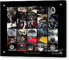 The Fine Art Of Automobiles Acrylic Print by Wingsdomain Art and Photography