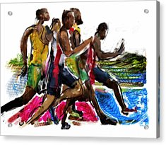 The Finish Line Acrylic Print