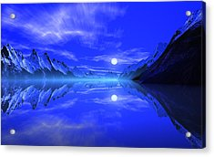 The Fiords Of Thor. Acrylic Print by David Jackson
