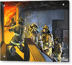 The Fire Floor Acrylic Print by Paul Walsh