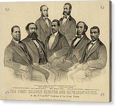 The First African American Senator Acrylic Print by Everett