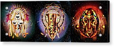 The First African Gods Triptych Acrylic Print