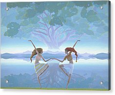 The First Dance Acrylic Print by Jonathan Day