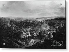 The First Day Of The Battle Of Fribourg, 3 August 1644  Acrylic Print by Francesco Giuseppe Casanova