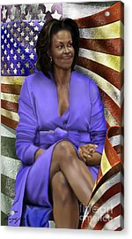 The First Lady-american Pride Acrylic Print by Reggie Duffie