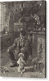 The First Lesson Acrylic Print by Louis Fairfax Muckley