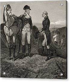The First Meeting Of George Washington And Alexander Hamilton Acrylic Print