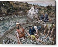 The First Miraculous Draught Of Fish Acrylic Print by Tissot