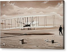 The First To Fly Acrylic Print by Kenneth Young