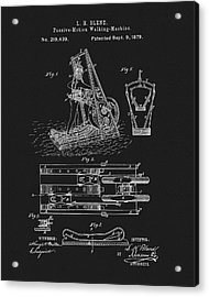 The First Treadmill Patent Acrylic Print