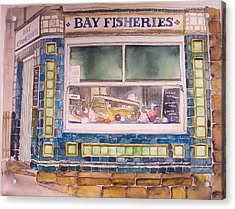 The Fish And Chip Shop Acrylic Print by Victoria Heryet
