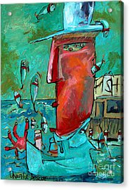 Sold The Fish Juggler In The White Hat Early Days Acrylic Print