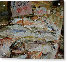 The Fish Market Acrylic Print by James Swanson