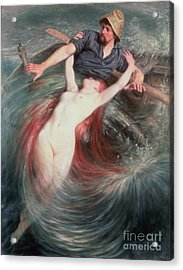 The Fisherman And The Siren Acrylic Print by Knut Ekvall