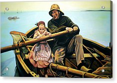 The Fisherman Acrylic Print by Jose Roldan Rendon