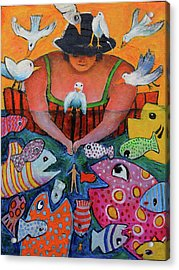 The Fisherman's Almanac Acrylic Print