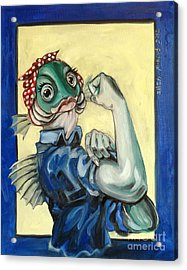 The Fishes Can Do It Acrylic Print by Ellen Marcus