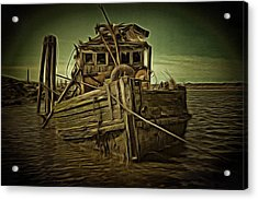 Acrylic Print featuring the photograph Mary D. Hume Shipwreak by Thom Zehrfeld