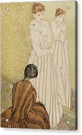 The Fitting Acrylic Print by Mary Stevenson Cassatt