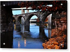 The Five Bridges - East Falls - Philadelphia Acrylic Print by Bill Cannon