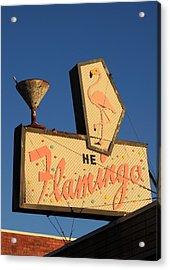 The Flamingo Acrylic Print