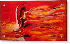 The Flash Comic Book Superhero Character Flash Gordon Lightning In Red Yellow Acrylic Cotton Canvas  Acrylic Print
