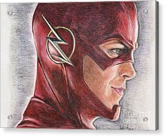 The Flash / Grant Gustin Acrylic Print