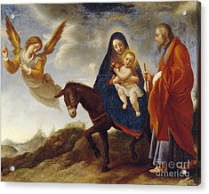 The Flight Into Egypt Acrylic Print by Carlo Dolci