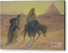 The Flight Into Egypt  Acrylic Print by Eugene Alexis Girardet