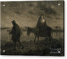The Flight Into Egypt Acrylic Print by Jean Francois Millet
