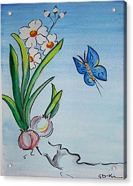 The Flight Of The Butterfly Acrylic Print