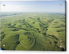 The Flint Hills Of Kansas Acrylic Print by Jim Richardson