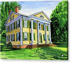 The Florence Griswold House In Old Lyme Ct. Acrylic Print by Jeff Blazejovsky
