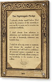 The Florence Nightingale Pledge 1893 Acrylic Print