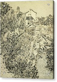 The Flower Garden, 1888 Acrylic Print by Vincent Van Gogh