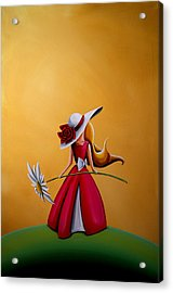 The Flower Girl Acrylic Print by Cindy Thornton