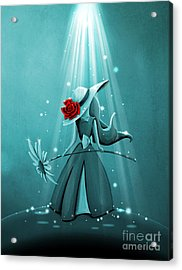 The Flower Girl - Remixed Acrylic Print
