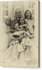 The Flower Girls Acrylic Print by David Patterson