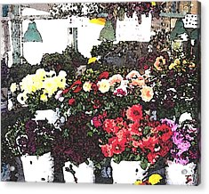 The Flower Market Acrylic Print by James Johnstone