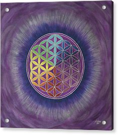 The Flower Of Life Acrylic Print by Silvia Flores