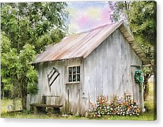 The Flower Shed Acrylic Print by Mary Timman