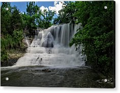 The Flowing Falls Acrylic Print