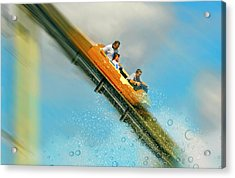 Acrylic Print featuring the photograph The Flume by Diana Angstadt