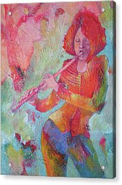 The Flute Player Acrylic Print