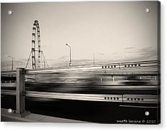The Flyer Acrylic Print by Susette Lacsina
