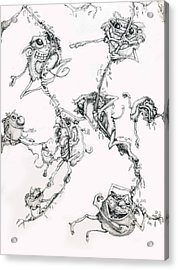 The Flying Puffballs Acrylic Print by Philip Straub
