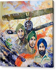 The Flying Sikhs Acrylic Print