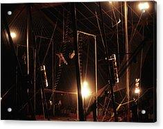The Flying Trapeze 1980s Circus Acrylic Print by Joseph Duba
