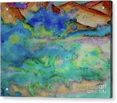 Acrylic Print featuring the painting The Fog Rolls In by Kim Nelson