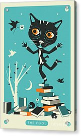 The Fool Tarot Card Cat Acrylic Print